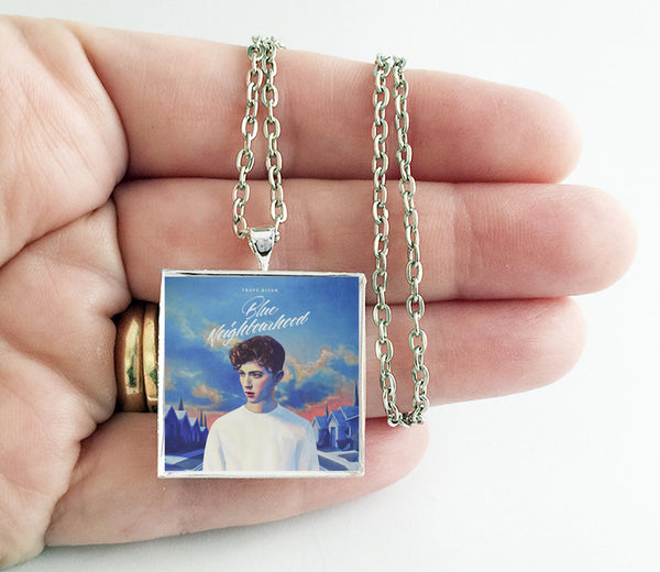 Troye Sivan - Blue Neighborhood - Album Cover Art Pendant Necklace - Hollee
