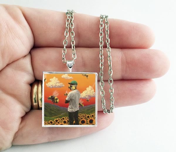 Tyler the Creator - Flower Boy - Album Cover Art Pendant Necklace - Hollee