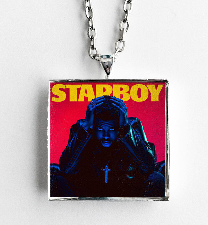 The Weeknd - Starboy - Album Cover Art Pendant Necklace - Hollee