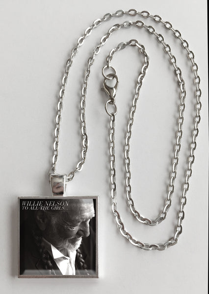 Willie Nelson - To All the Girls - Album Cover Art Pendant Necklace - Hollee