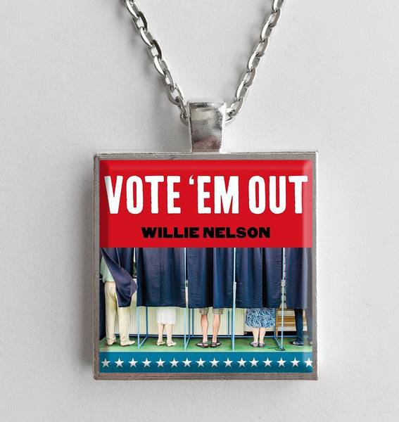 Willie Nelson - Vote 'Em Out - Album Cover Art Pendant Necklace - Hollee