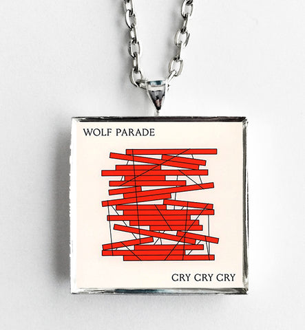 Wolf Parade - Cry Cry Cry - Album Cover Art Pendant Necklace
