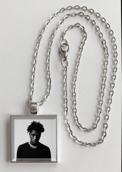 Young Boy Never Broke Again - Top - Album Cover Art Pendant Necklace