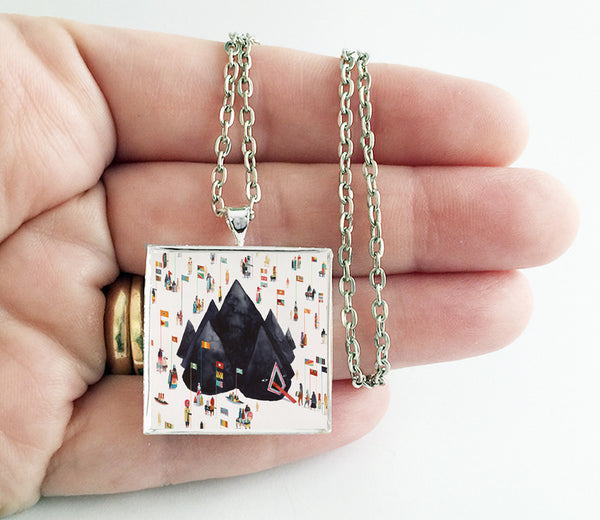 Young the Giant - Home of the Strange - Album Cover Art Pendant Necklace - Hollee