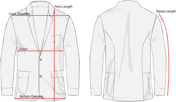 Men's Blazer Sizing