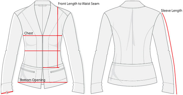 Womens's Blazer Sizing