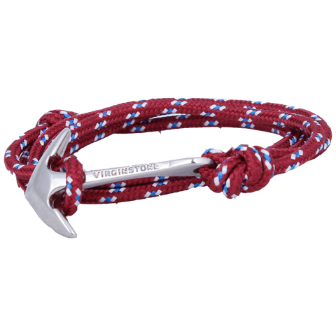 NYLON BURGUNDY Silver anchor