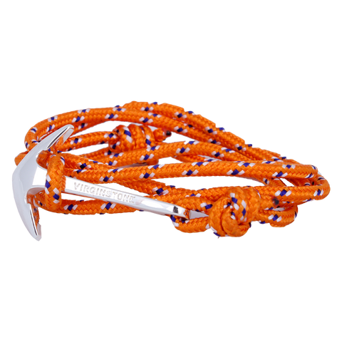 NYLON ORANGE Silver anchor
