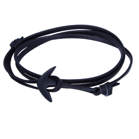 LEATHER BLACK Black anchor