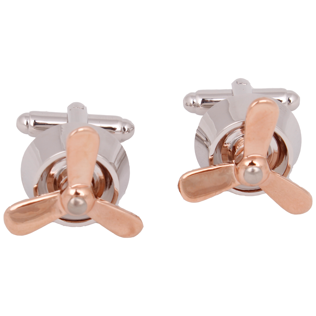 MANCUERNILLAS Helice Rose Gold