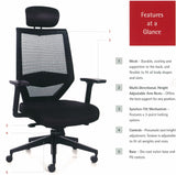 Athens High Back Office Chair Features