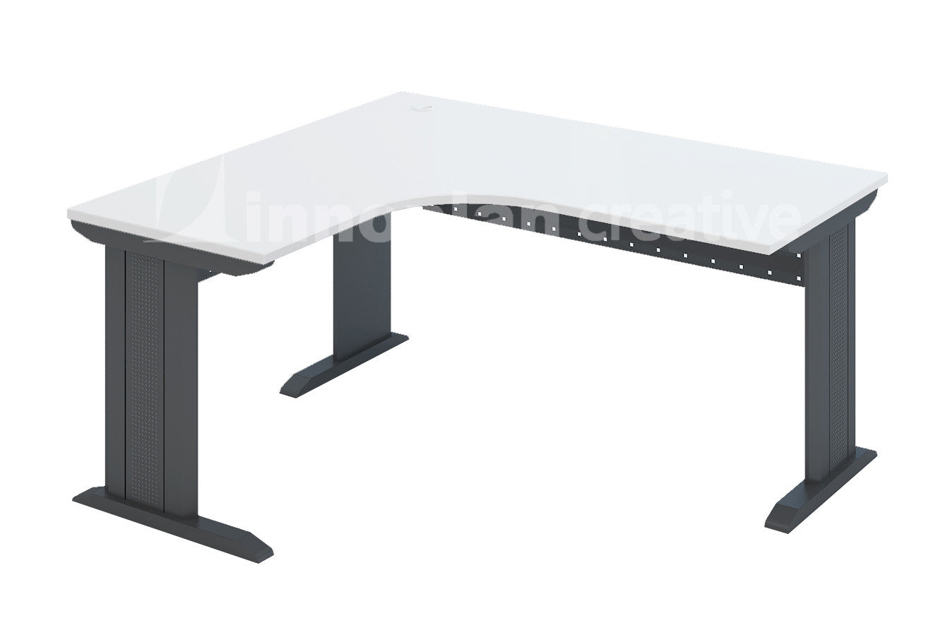 Beau L Shaped Table (IDC Metal Leg)