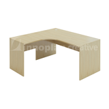 L-Shaped Table (Wooden Leg)