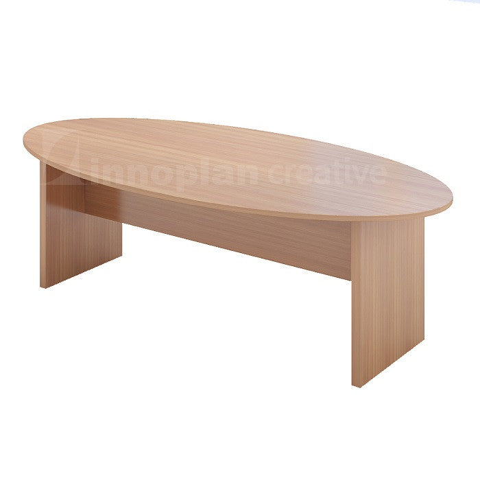 Oval Shape Meeting Table Wooden Leg Innoplancreative - Oval shaped conference table