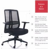 Pristina Mid Back Office Chair Features