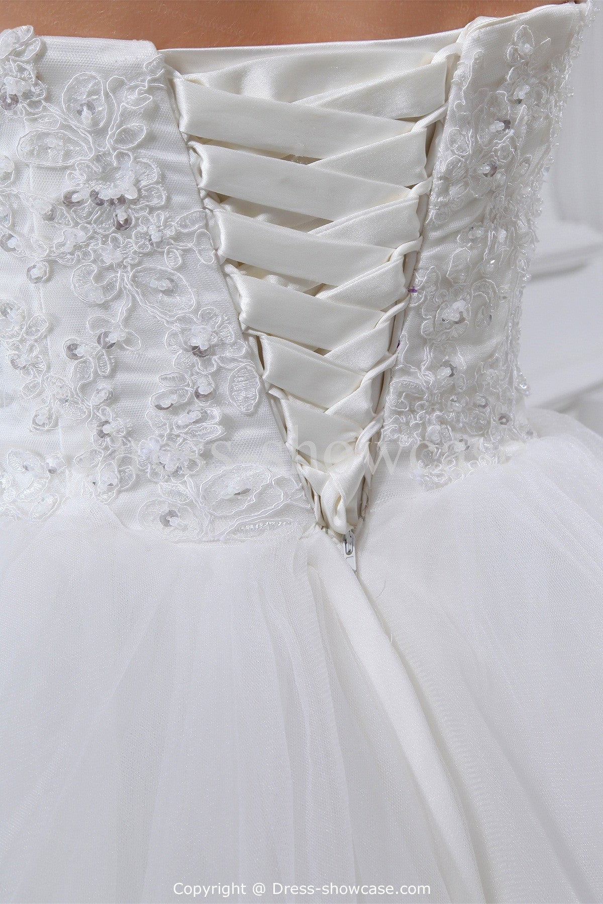 Low Back Corset Wedding Dresses