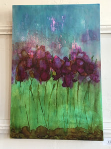 A. Phillips Large Floral Painting