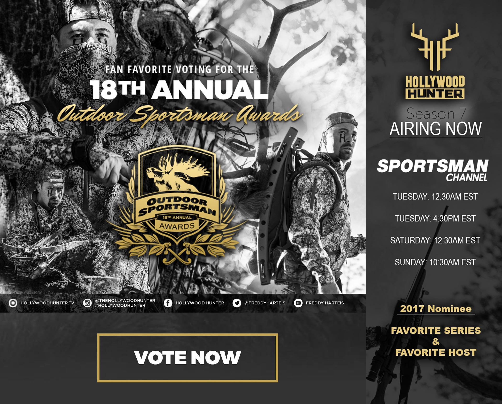 Vote Hollywood Hunter for OSA Fan Favorite