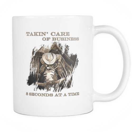 TCB Bull Riding Coffee Mug - 11 oz Rodeo Life - Country Clothing - Rodeo