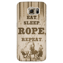 Wrangler - Rope and Repeat Phone Case for Samsung S4 - S6 Edge Rodeo Life - Country Clothing - Rodeo