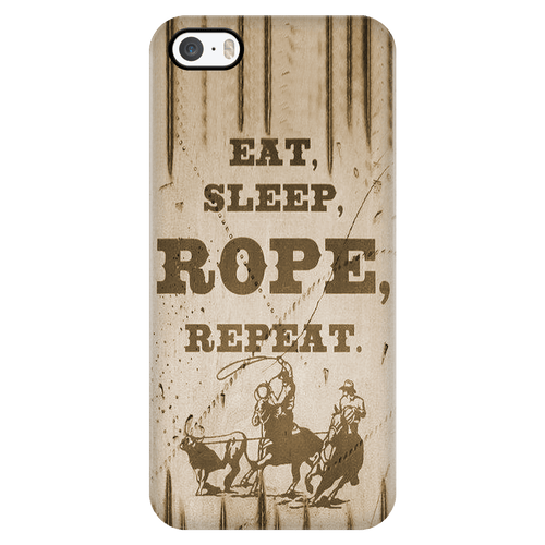 Wrangler - Rope and Repeat Case for iPhone 5 thru 6s plus Rodeo Life - Country Clothing - Rodeo