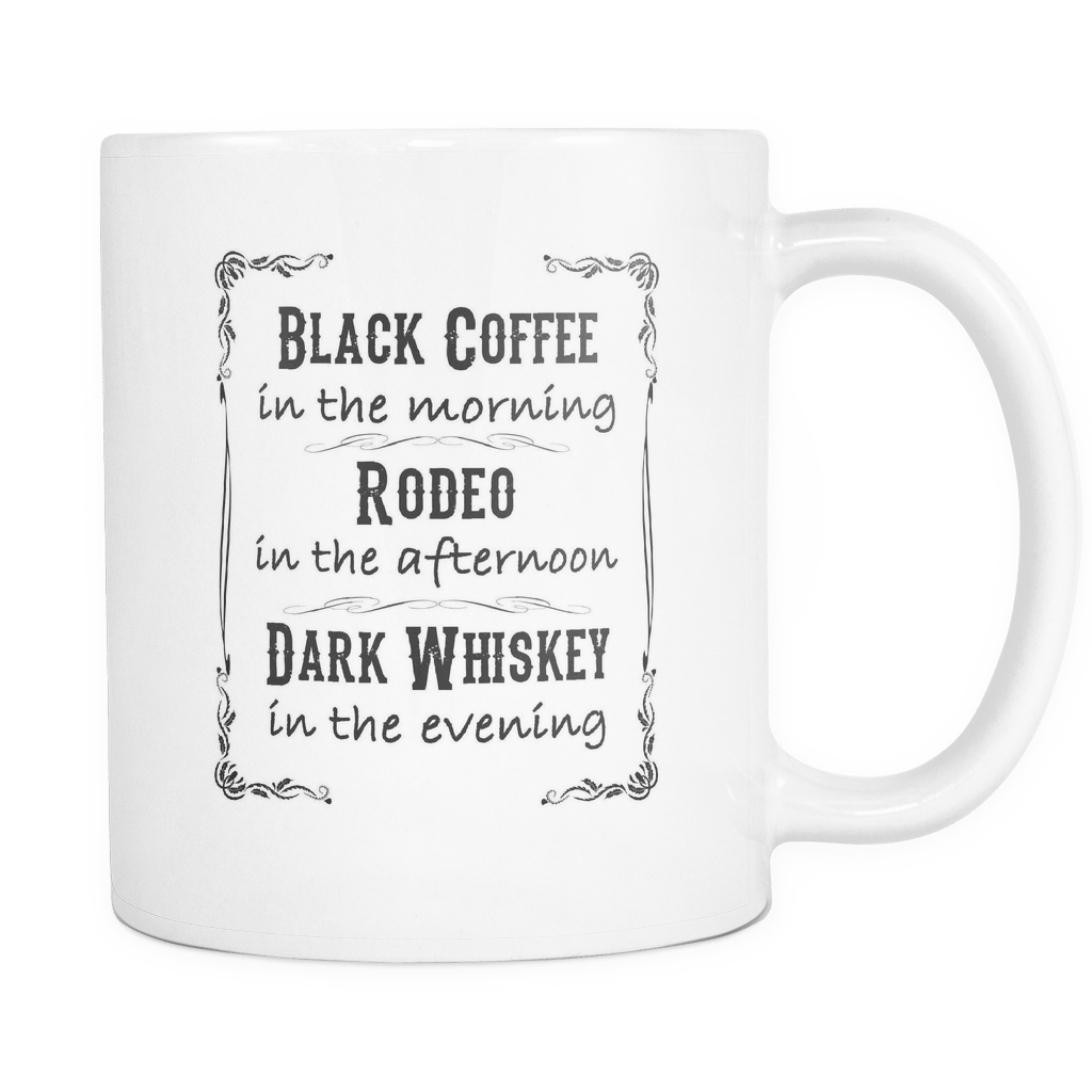 Dark Whiskey Coffee Mug - 11oz Rodeo Life - Country Clothing - Rodeo
