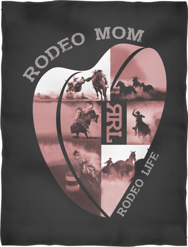 Rodeo Mom - Premium Fleece Blanket - Ultra Soft Rodeo Life - Country Clothing - Rodeo