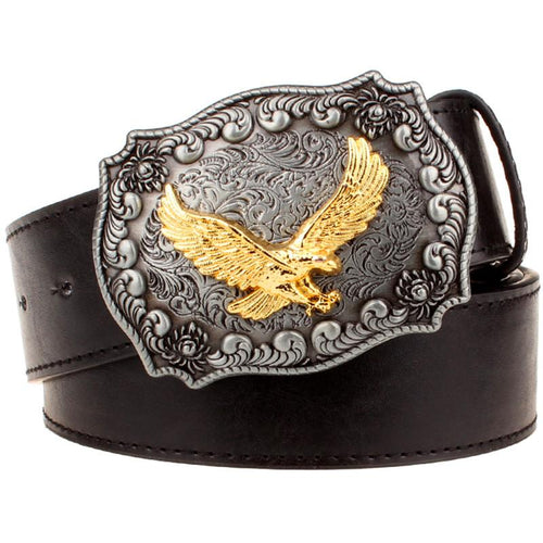 Gold American Eagle | Buckle w/ Belt Rodeo Life - Country Clothing - Rodeo