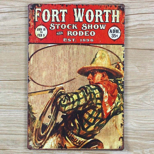 Fort Worth Stock Show | Vintage Sign Rodeo Life - Country Clothing - Rodeo
