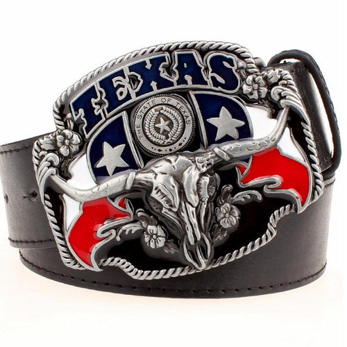 American Texas Bull Head | Belt w/ Buckle Rodeo Life - Country Clothing - Rodeo