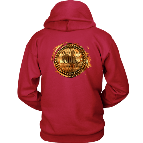Bronc Rider (Black Front Logo) | 2 Sided Rodeo Life Hoodie