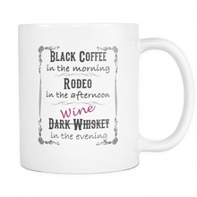 Dark Whiskey - Wine Coffee Mug - 11oz Rodeo Life - Country Clothing - Rodeo