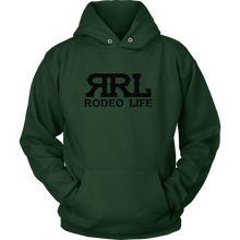 Rodeo Life Black Logo Hoodie (Front Only)- Mens/Womens Rodeo Life - Country Clothing - Rodeo