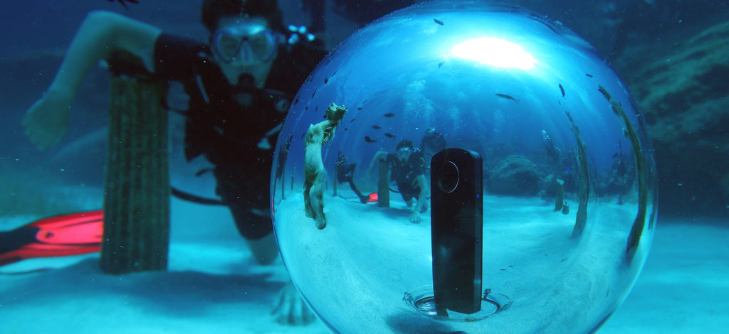 We're excited about taking 360 videos and photos underwater!