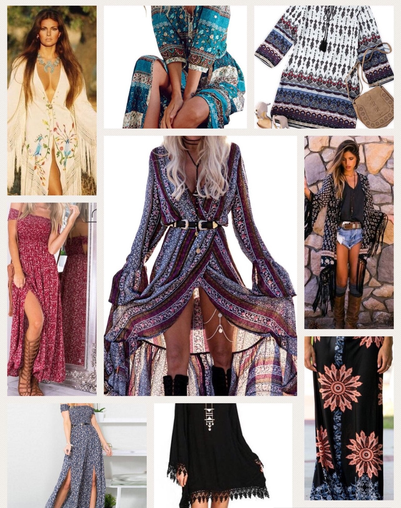 Boho-Chic Clothing Cool Bohemian Style Pants, Maxi Dresses, Boho Style Shirts, Top & Blouses