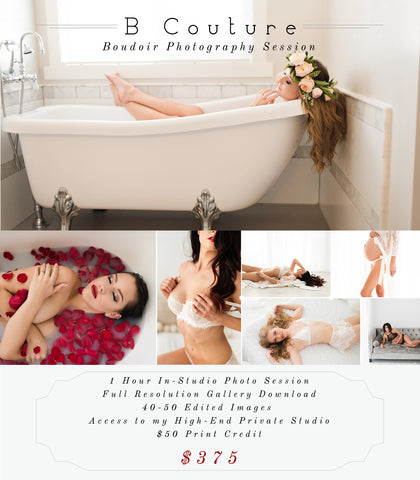 Boudoir Studio Session {Deposit}