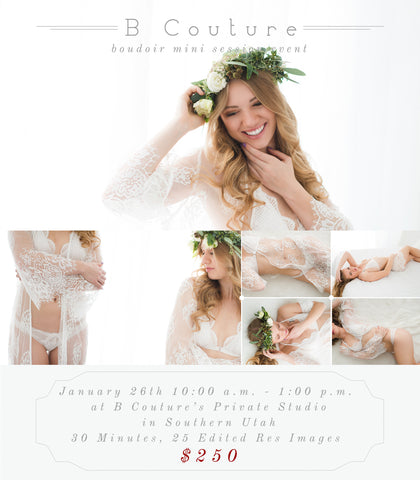 Boudoir Mini Sessions, January 13th {Deposit}