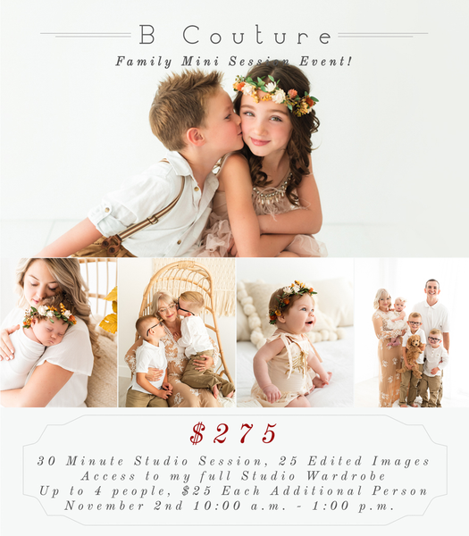 Fall Family Mini Sessions, Saturday November 2nd