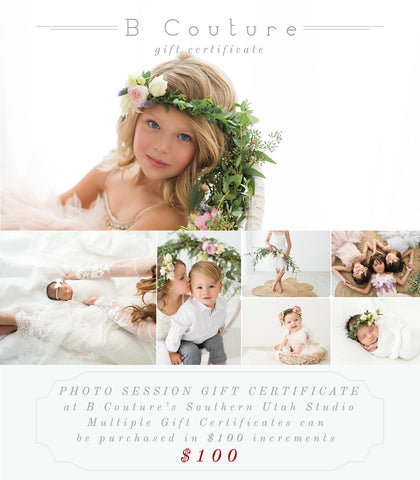 Gift Certificate {B Couture Photoshoots}