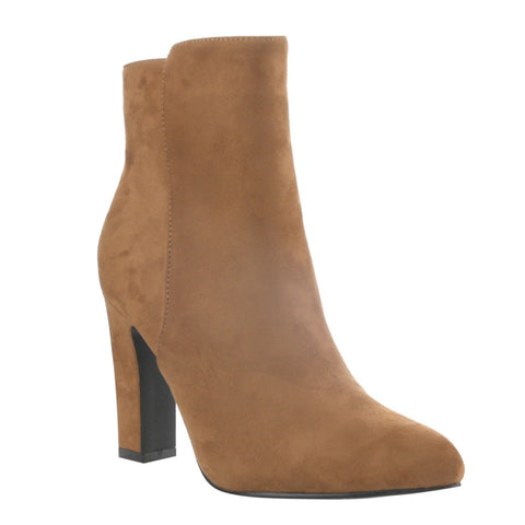 Puppy - Camel Pointy Toe Ankle Booties