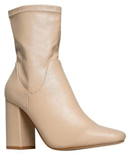 Chloe - Nude Leather Boots