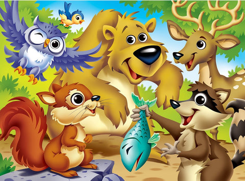 Googly Eyes Woodland Animals 48pc Puzzle