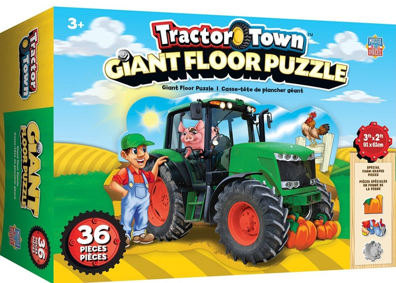 Tractor town giant tractor floor puzzle box