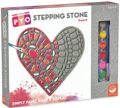 Paint Your Own Stepping Stone Heart