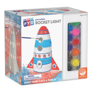 Paint Your Own Porcelain Light Rocket