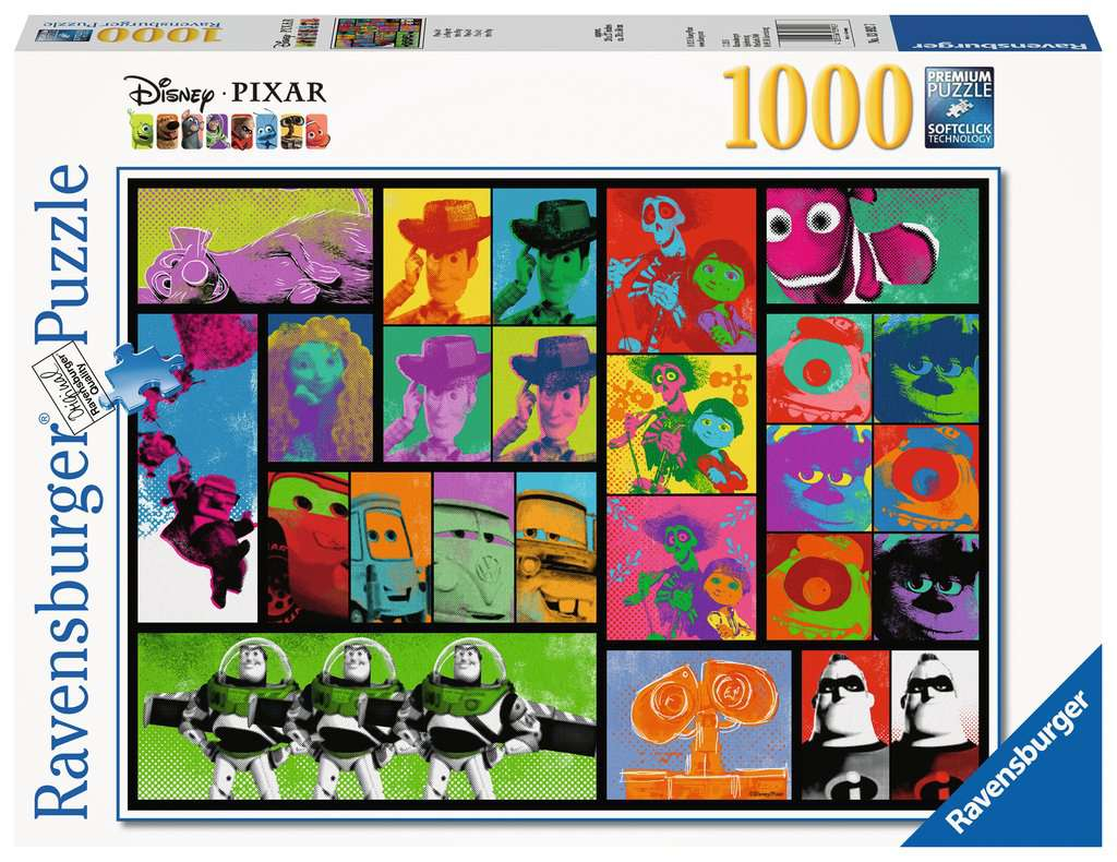 Pixar Pop Art 1000pc Puzzle