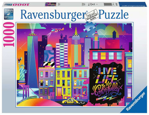 Live Life Colorfully, NYC 1000pc Puzzle