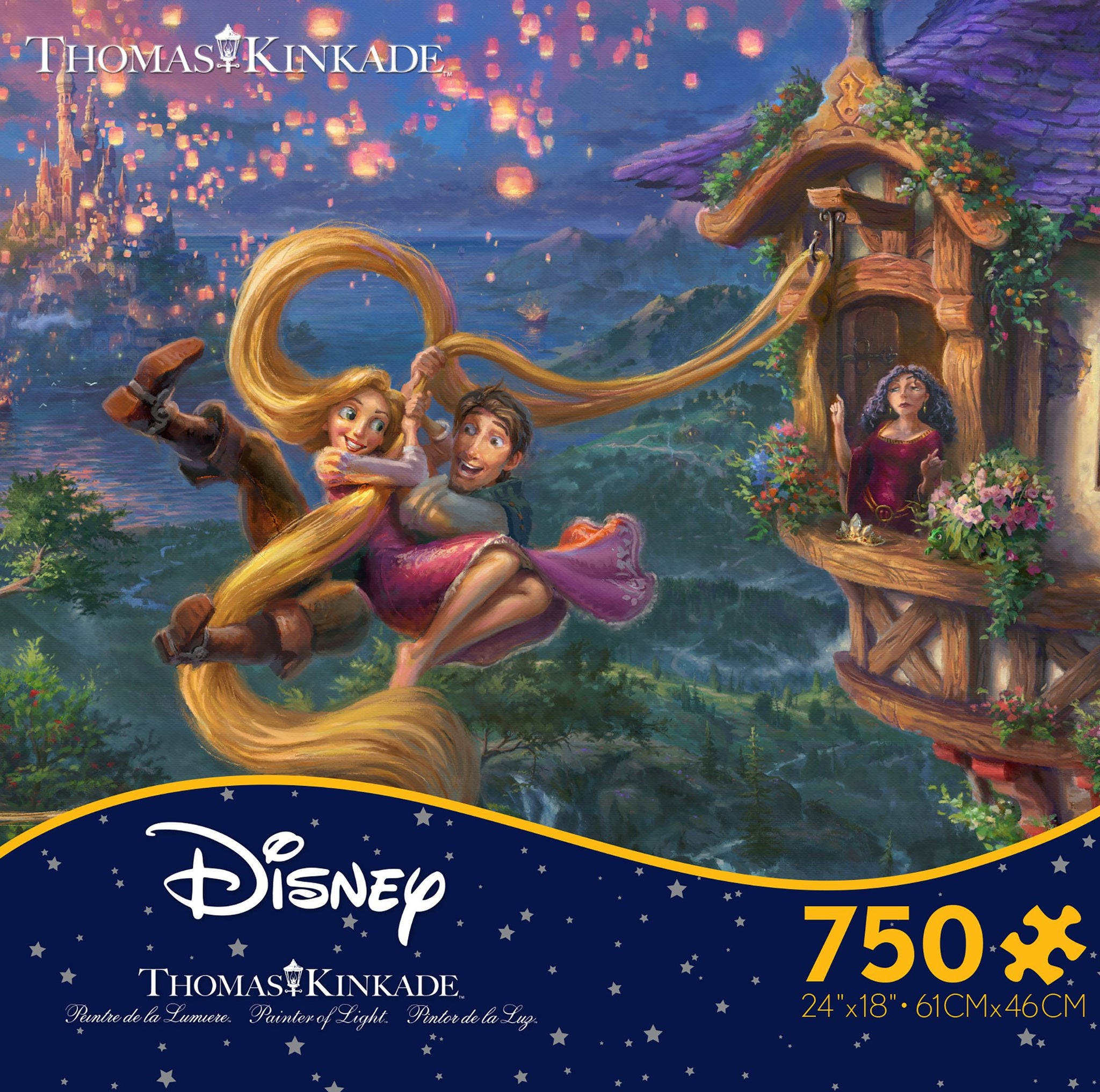 Thomas Kinkade Disney Tangled 750pc Puzzle