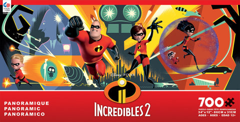 Disney Panoramic Incredibles 2 700pc Puzzle