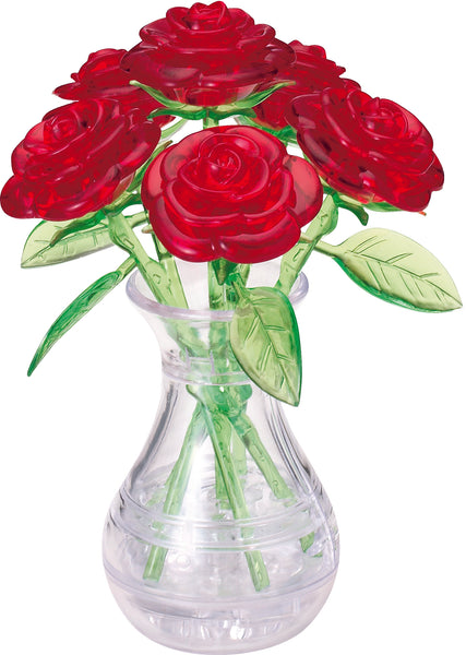 Red Roses in Vase 3D Crystal Puzzle